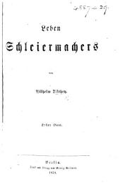 Leben Schleiermachers: Band 1