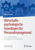 Wirtschaftspsychologische Grundlagen f  r Personalmanagement PDF