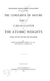 A Recalculation of the Atomic Weights: Part 5
