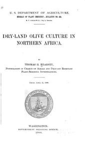 Dry-land Olive Culture in Northern Africa