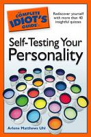 The Complete Idiot s Guide to Self Testing Your Personality PDF