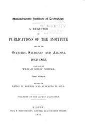 Register of Publications ... and of ... Officers, Students and Alumni, 1862-1893