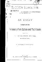 An Essay in Explanation of the Gramercy Park School and Tool house PDF