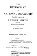 The Dictionary of National Biography