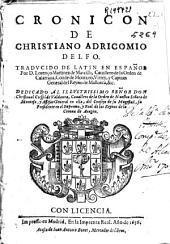 Cronicon de Christiano Adricomio Delfo ; traducido del latín en español por D. Lorenço Martinez de Marcilla ...