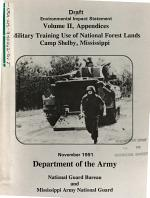 Camp Shelby, Military Training Use of National Forest Lands, Desoto N.F.