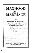 Download Manhood and Marriage Book