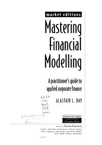 Mastering Financial Modelling PDF