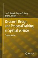 Research Design and Proposal Writing in Spatial Science PDF