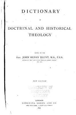 Dictionary of Doctrinal and Historical Theology PDF