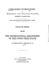 The International Beginnings of the Congo Free State