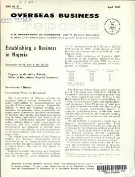 Establishing a Business in Nigeria PDF