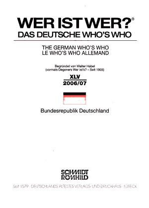Wer ist wer  PDF