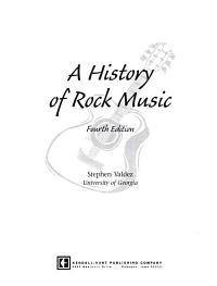 A History of Rock Music Book
