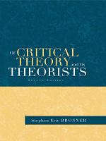 Of Critical Theory and Its Theorists PDF