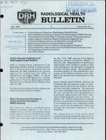 Radiological Health Bulletin PDF