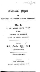 Occasional Papers on subjects of contemporary interest: Issue 1
