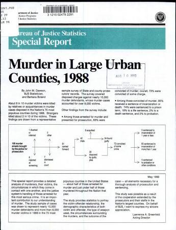 Murder in Large Urban Counties  1988 PDF