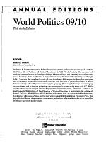 Annual Editions  World Politics 09 10 PDF