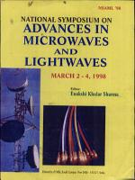 National Symposium on Advances in Microwaves and Lightwaves PDF