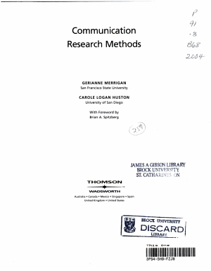 Communication Research Methods PDF