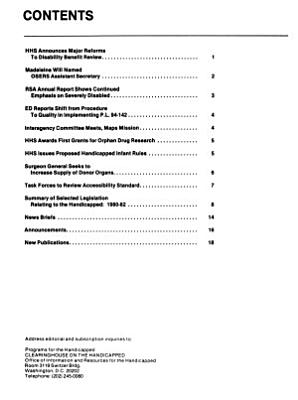 Programs for the Handicapped PDF
