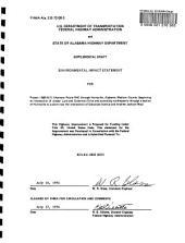 I-65 to Huntsville, Madison County: Environmental Impact Statement, Volume 1