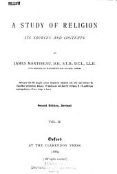 A Study of Religion: Its Sources and Contents