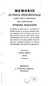 Memorie di fisica sperimentale: Volume 3