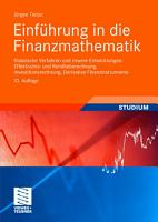 Einf  hrung in die Finanzmathematik PDF