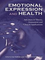 Emotional Expression and Health PDF