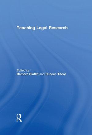 Teaching Legal Research PDF