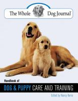 Whole Dog Journal Handbook of Dog and Puppy Care and Training PDF