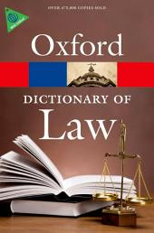 A Dictionary of Law: Edition 7