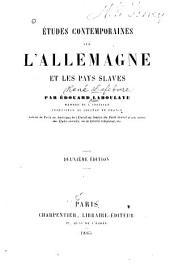 Études contemporaines sur l'Allemagne et les pays slaves