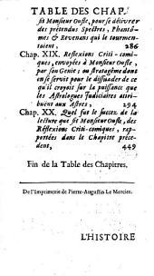 L'histoire des imaginations extravagantes de m. Oufle, causées par la lecture des livres qui traitent de la magie [by L. Bordelon].