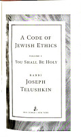 A Code of Jewish Ethics  You shall be holy PDF