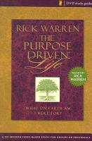 The Purpose Driven Life Dvd Study Guide PDF