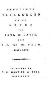 Bijbel voor de jeugd: Bijbelsche tafereelen uit het leven van Saul en David. Xde stuk