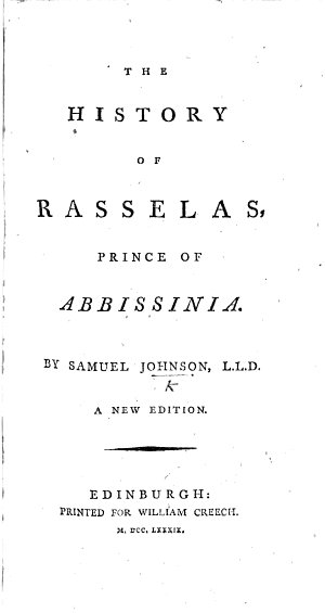 The Prince of Abissinia  A tale