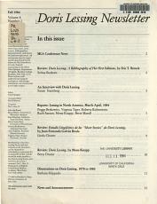 Doris Lessing Newsletter PDF