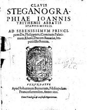 Clavis generalis triplex in libros Steganographicos
