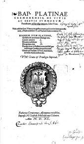 De Vitis Ac Gestis Summorum Pontificum, ad sua usque tempora
