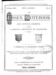 The Essex notebook and Suffolk gleaner PDF