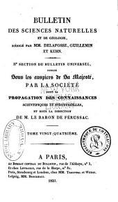 Bulletin des sciences naturelles et de géologie: Volume24