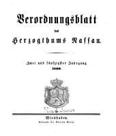 Verordnungsblatt des Herzogtums Nassau: Band 52