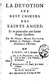 La dévotion aux neufs choeurs des saints anges