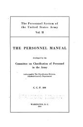 The Personnel System of the United States Army