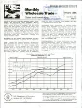 Current Business Reports: Monthly wholesale trade, sales and inventories