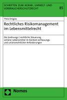 Rechtliches Risikomanagement im Lebensmittelrecht PDF